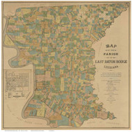 East Baton Rouge Parish Louisiana 1895 - Old Map Reprint
