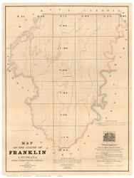 Franklin Parish Louisiana 1860 - Old Map Reprint