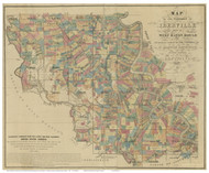 Iberville Parish Louisiana 1863 - Old Map Reprint