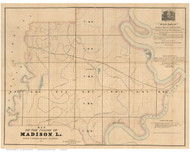 Madison Parish Louisiana 1860 - Old Map Reprint