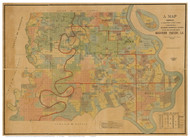 Madison Parish Louisiana 1891 - Old Map Reprint