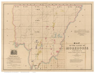 Morehouse Parish Louisiana 1860 - Old Map Reprint