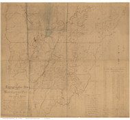 Morehouse Parish Louisiana 1896 - Old Map Reprint