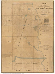 St Martins and St Landry Parish Louisiana 1860 - Old Map Reprint