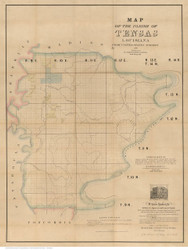 Tensas Parish Louisiana 1860 - Old Map Reprint