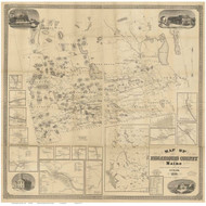 Piscataquis County Maine 1858 - Old Map Reprint
