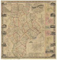 York County Maine 1856 - Old Map Reprint