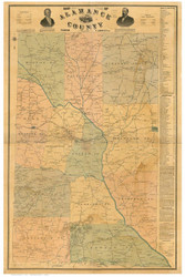 Alamance County North Carolina 1893 - Old Map Reprint