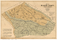 Bladen County North Carolina 1885 - Old Map Reprint