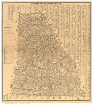 Cleveland County North Carolina 1886 - Old Map Reprint