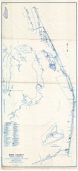 Dare County North Carolina 1938 - Old Map Reprint