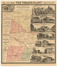 Durham County North Carolina 1887 - Old Map Reprint