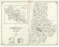 Durham County North Carolina 1920 - Old Map Reprint