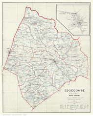 Edgecombe County North Carolina 1905 - Old Map Reprint