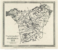 Henderson County North Carolina 1918 - Old Map Reprint