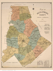 Mecklenburg County North Carolina 1911 - Old Map Reprint