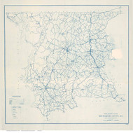Montgomery County North Carolina 1910 (1919) - Old Map Reprint