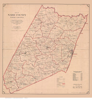 Nash County North Carolina 1919 - Old Map Reprint