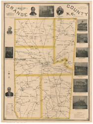 Orange County North Carolina 1891 - Old Map Reprint