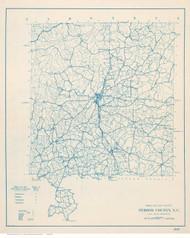 Person County North Carolina 1910 (1919) - Old Map Reprint