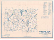 Rockingham County North Carolina 1938 - Old Map Reprint