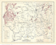 Surry County North Carolina 1921 - Old Map Reprint