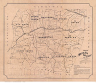 Warren County North Carolina 1874 - Old Map Reprint
