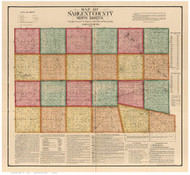 Sargent County North Dakota 1899 - Old Map Reprint