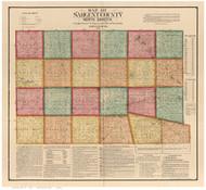 Sargent County North Dakota 1899 - Old Map Reprint