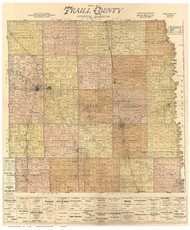 Traill County North Dakota 1900 - Old Map Reprint