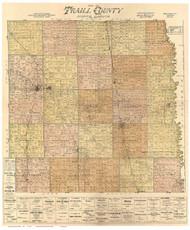 Traill County North Dakota 1900 - Old Map Reprint