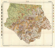 Ashe County Soils Map, 1912 North Carolina - Old Map Reprint