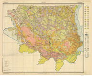 Bertie County Soils Map, 1918 North Carolina - Old Map Reprint