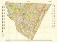 Cabarrus County Soils Map, 1910 North Carolina - Old Map Reprint