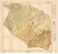 Caldwell County Soils Map, 1917 North Carolina - Old Map Reprint