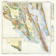 Camden & Currituck County Soils Map, 1923 North Carolina - Old Map Reprint - Copy B