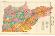 Cherokee County Soils Map, 1921 North Carolina - Old Map Reprint