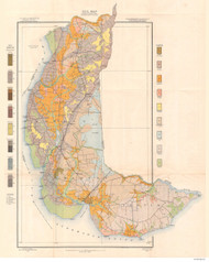 Chowan County Soils Map, 1906 North Carolina - Old Map Reprint