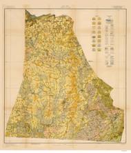 Cleveland County Soils Map, 1918 North Carolina - Old Map Reprint