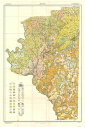 Davidson County Soils Map, 1915 North Carolina - Old Map Reprint