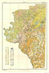 Davidson County Soils Map, 1915 North Carolina - Old Map Reprint