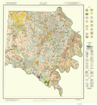 Davie County Soils Map, 1927 North Carolina - Old Map Reprint