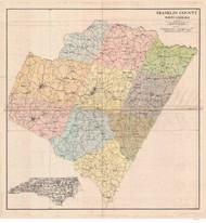 Franklin County Soils Map, 1907 North Carolina - Old Map Reprint