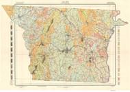 Gaston County Soils Map, 1909 North Carolina - Old Map Reprint