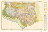 Gates County Soils Map, 1929 North Carolina - Old Map Reprint