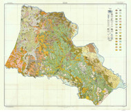 Hartnett County Soils Map, 1916 North Carolina - Old Map Reprint