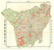 Henderson County Soils Map, 1907 North Carolina - Old Map Reprint