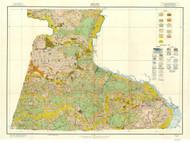 Hertford County Soils Map, 1916 North Carolina - Old Map Reprint