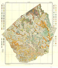 Johnston County Soils Map, 1911 North Carolina - Old Map Reprint