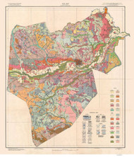 Lenoir County Soils Map, 1927 North Carolina - Old Map Reprint